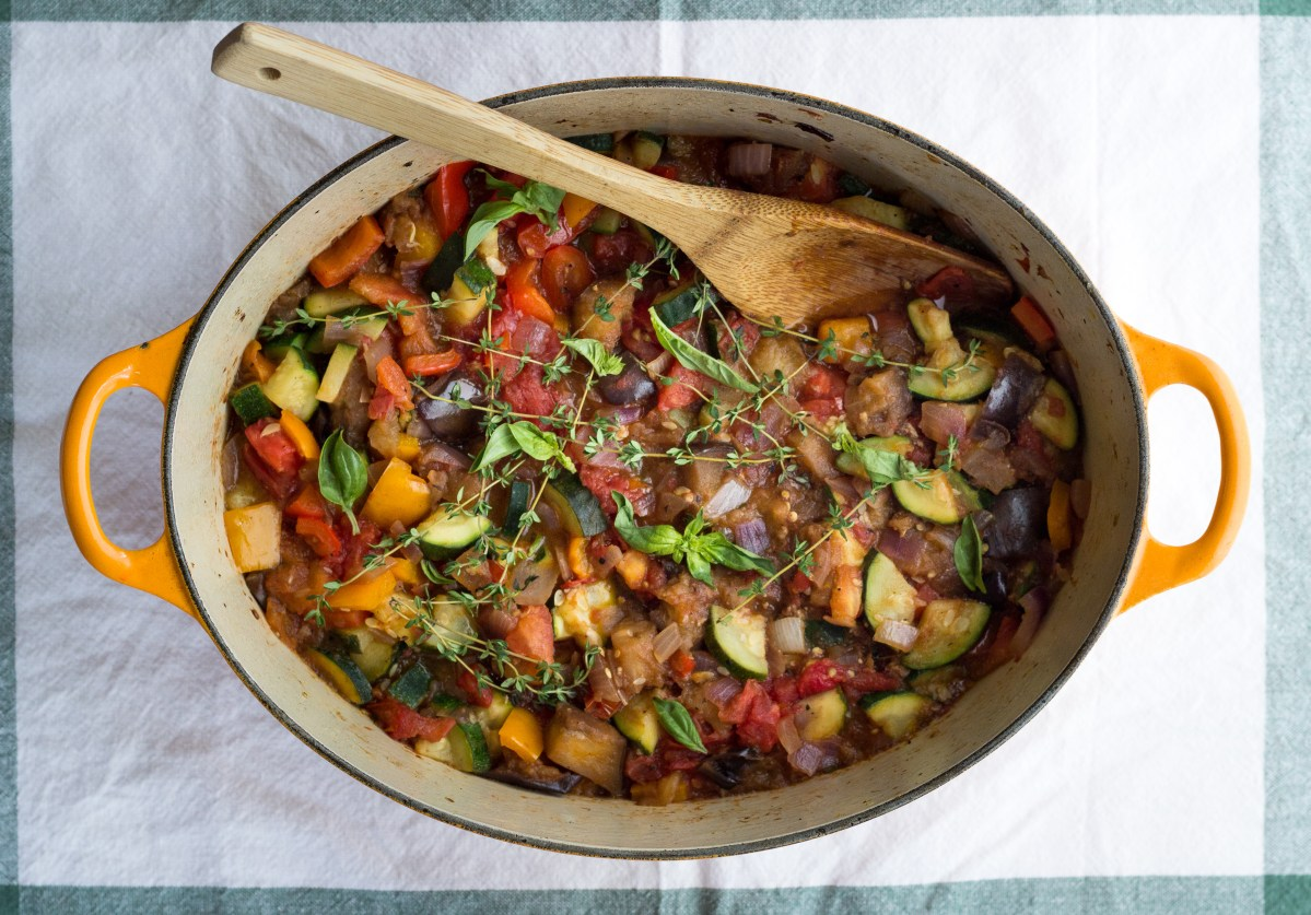 Rustic Ratatouille: A One Pot Summer Meal {Paleo, Vegetarian}